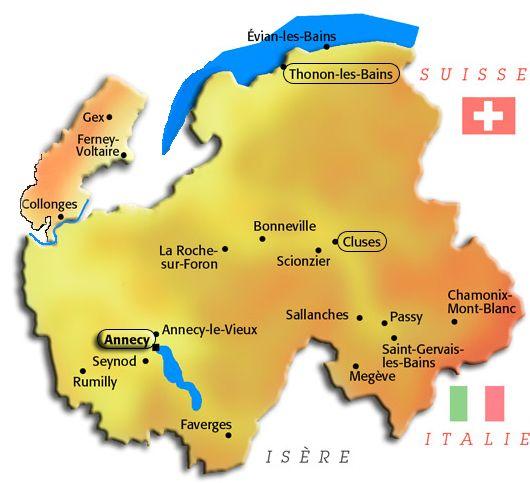 La centaine de bénévoles couvre tout le département de la Haute-Savoie