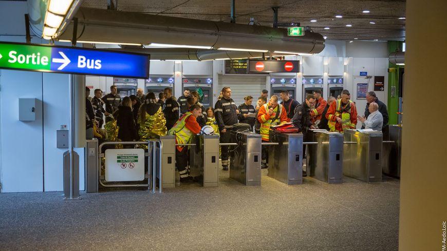 14 personnes légèrement blessées après le déraillement d'une rame du métro à Marseille