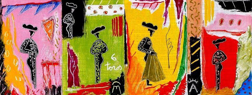 Une peinture de Michel Tombereau.