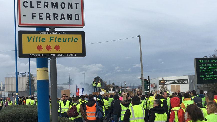 La ville de Clermont-Ferrand et ses gilets jaunes