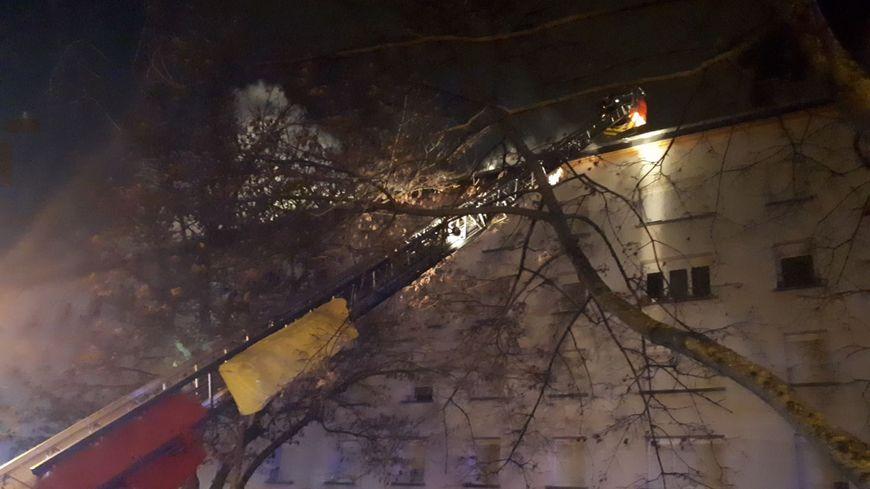 Incendie dans un immeuble rue de Toulouse à Mulhouse le 22/12/18