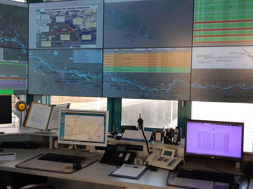 A Gambsheim, le CARING, centre d'alerte rhénan, surveille les niveaux du Rhin