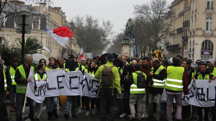 Les Gilets jaunes mobilisés à Bordeaux samedi 22 décembre 2018.
