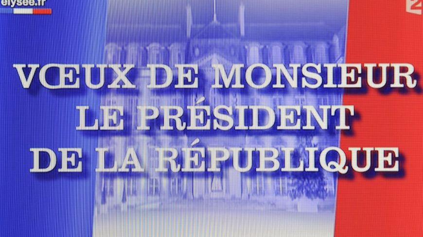 Image générique des vœux présidentiels à la télévision le 31 décembre 2009 sous le quinquennat de Nicolas Sarkozy.
