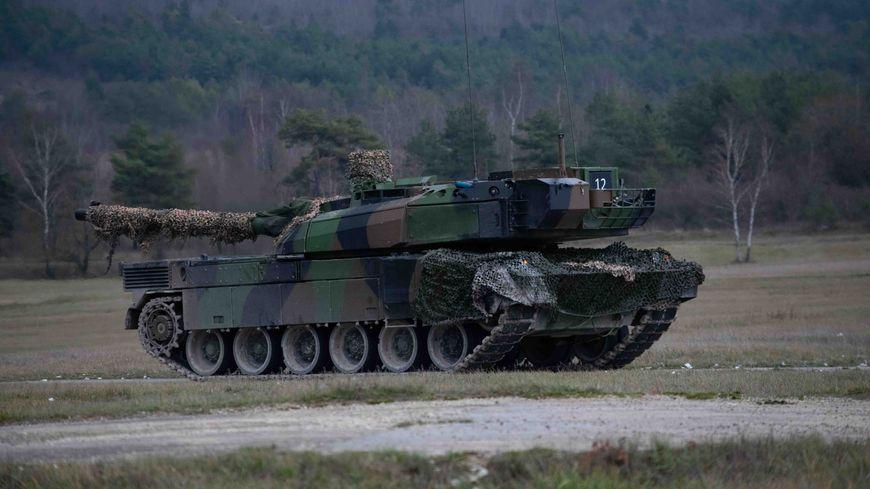 Un des chars Leclerc du 501è