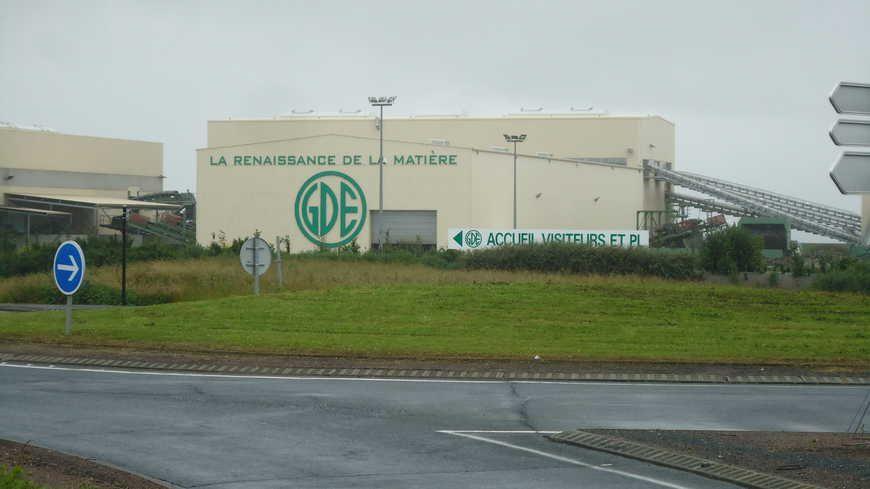 L'usine de recyclage GDE basée dans le Calvados, près de Caen, à Rocquancourt