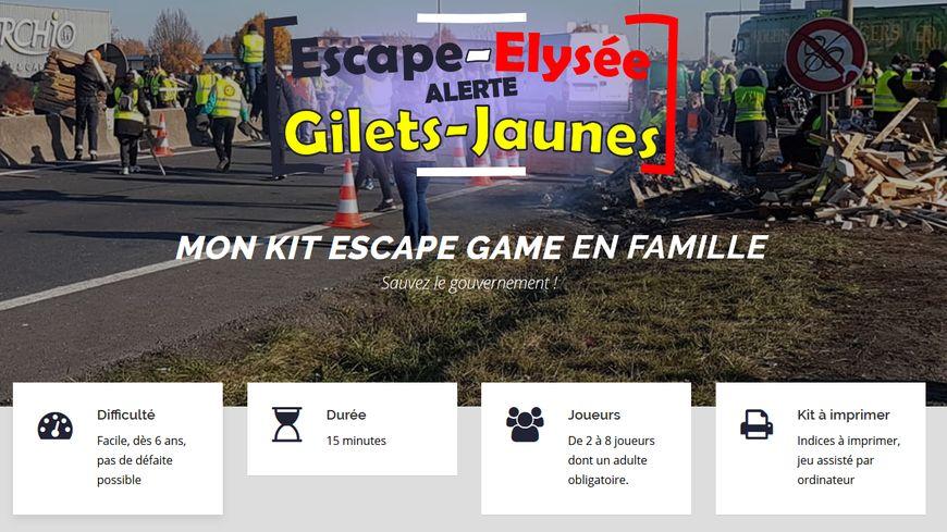 Le jeu est accessible gratuitement sur le site escape-game.net