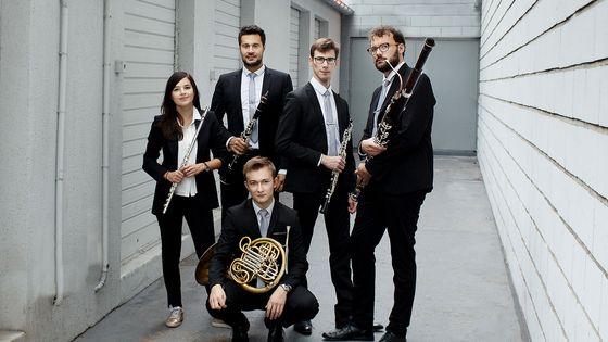 L'Ensemble Ouranos : Mathilde Calderini, Philibert Perrine, Amaury Viduvier, Nicolas Ramez, Rafael Angster et Guillaume Vincent