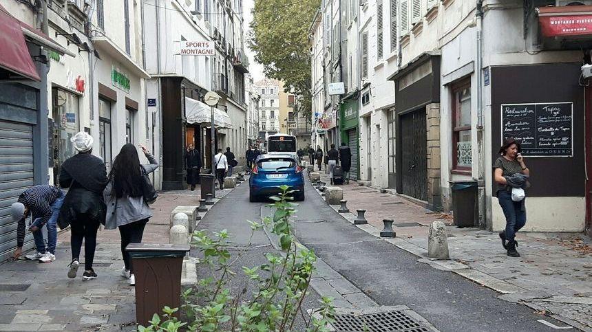La rue Carreterie aujourd'hui à Avignon