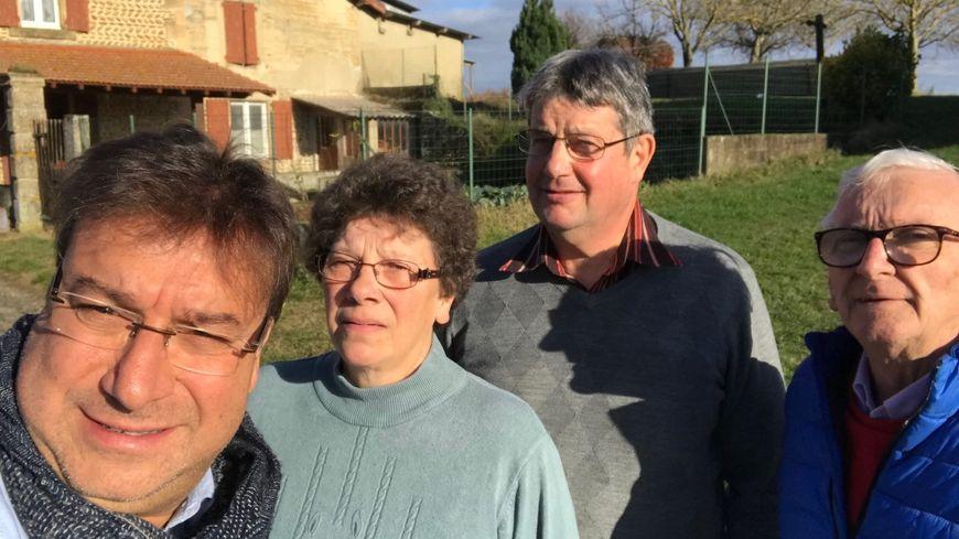 Franck, Maryse et Guy Péran et Bernard Finot