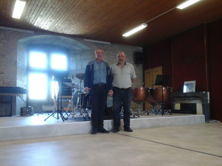 Daniel Henriet et Daniel Berthet, pour l'harmonie et l'école de musique