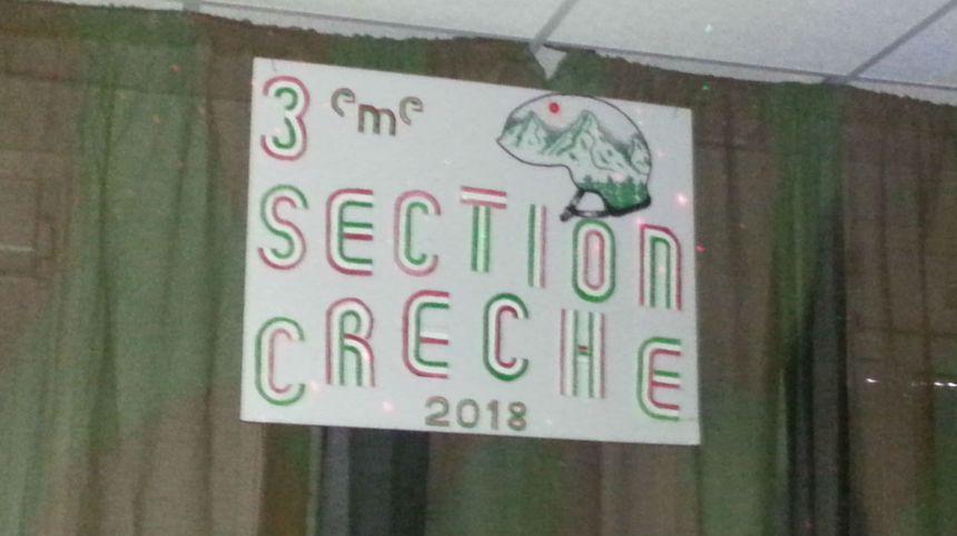 A la légion la section crèche de Noël