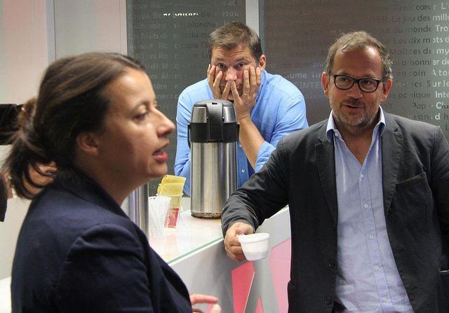 Cécile Duflot, Philippe Lefebure et Thomas Legrand