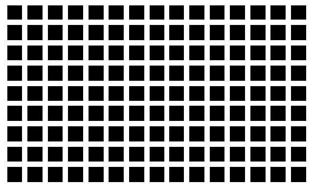 La grille d'Hermann, une illusion d'optique de contraste.