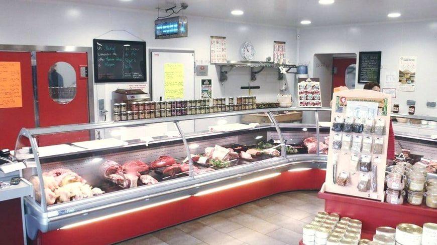 Intérieur de la boucherie de Cédric Mirande