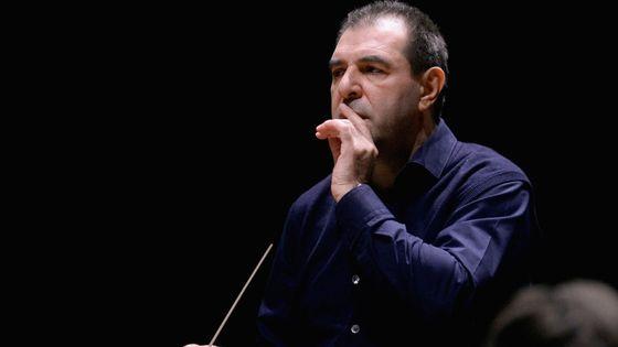 Le chef italien Daniele Gatti lors d'une répétition avec le Mahler Chamber Orchestra en avril 2017