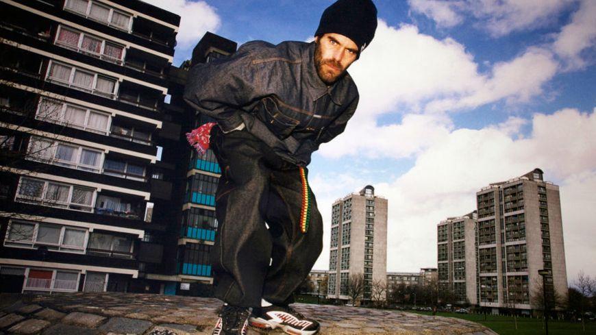 Portrait du chanteur de reggae français Pierpoljak en avril 2000 à Londres, Royaume-Uni.