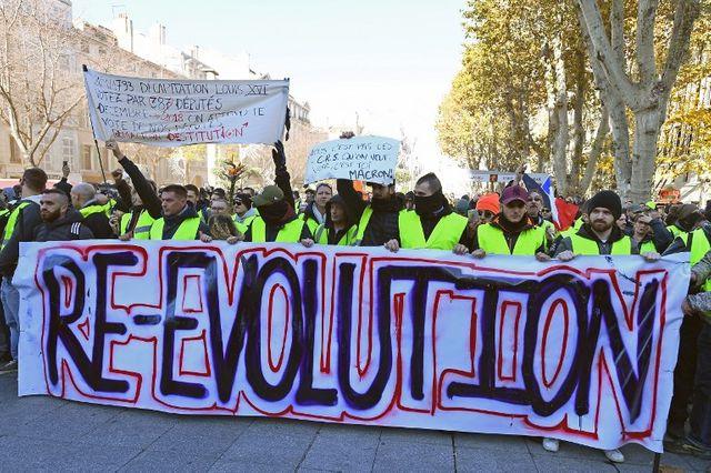 """Manifestation à Marseille de """"gilets jaunes"""", samedi 8 décembre 2018"""