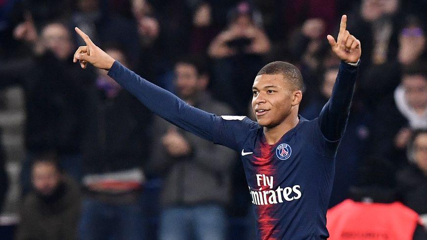 La joie de Kylian Mbappé après son but à la 68e minute de jeu face à Nantes (1-0)