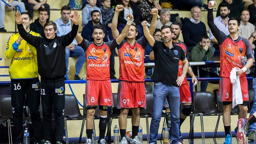Le Grand Nancy Métropole Handball a su s'imposer à l'extérieur comme ici à Massy