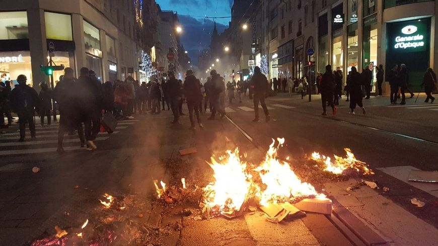 Manifestation tendue à Nancy ce samedi après-midi.