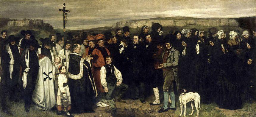 Gustave Courbet - Un enterrement à Ornans