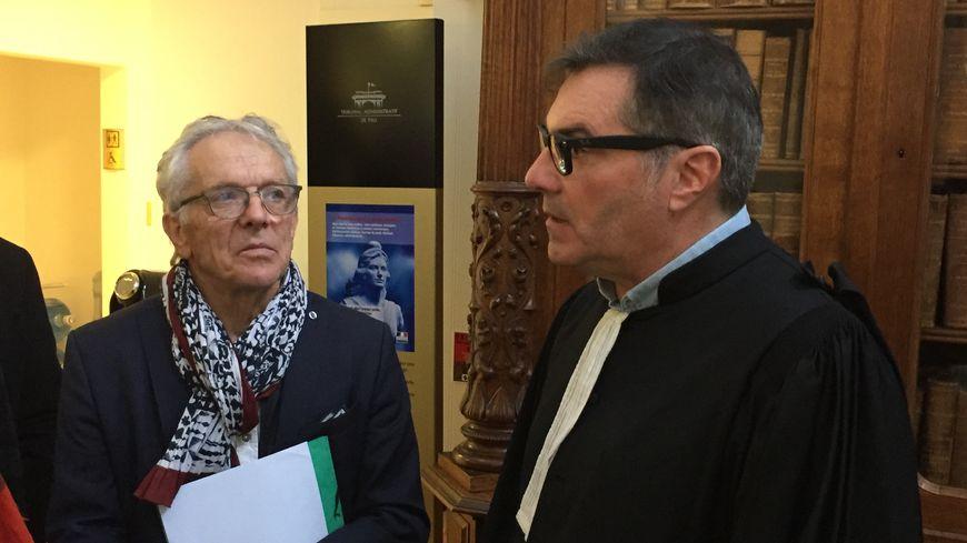 Robert Bareille, adjoint à la mairie d'Oloron, et l'avocat Philippe Herrmann.