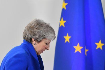 La première ministre britannique Theresa May à Bruxelles le 25 novembre dernier, lors de l'adoption de l'accord sur le Brexit par les 27 autres pays de l'UE.