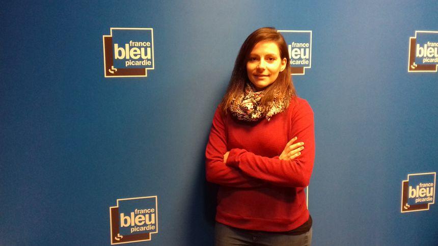 """Emilie Dewilde, une des bénévoles de l'association """"Amiens Jeunes"""""""