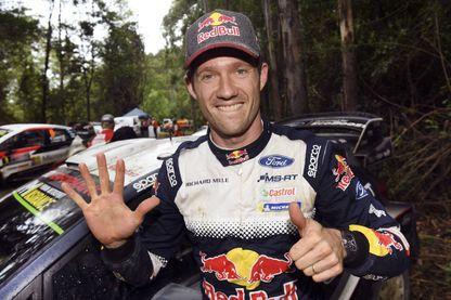Sébastien Ogier célèbre son sixième titre de champion du monde des rallyes