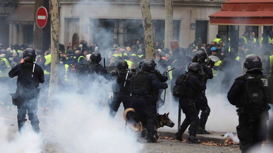 Mouvement des Gilets jaunes : manifestation à Paris samedi 8 décembre 2018.