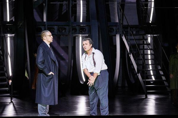 Mika Kares (Jacopo Fiesco) et Ludovic Tézier (Simon Boccanegra)