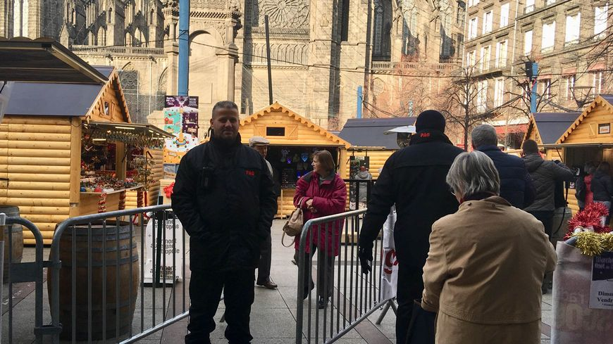 Le dispositif de sécurité a été renforcée au marché de Noël de Clermont-Ferrand