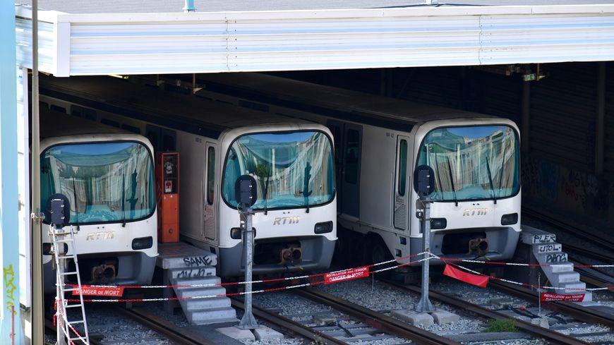 La circulation du métro a repris ce samedi après midi à la station Sainte Marguerite à Marseille