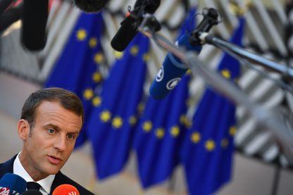 Emmanuel Macron à un Sommet européen le 29 juin dernier à Bruxelles.
