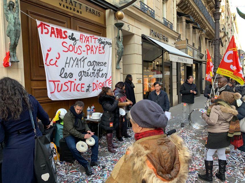 La direction du groupe Hyatt pourrait accepter d'aligner les salaires sur ceux de ses autres hôtels. - Radio France