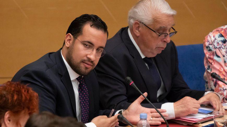 Audition d'Alexandre Benalla devant la Commission des lois du Sénat, à Paris le 19 septembre 2018