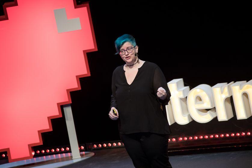 Cathy O'Neil à la conférence Internetdagarna en 2017