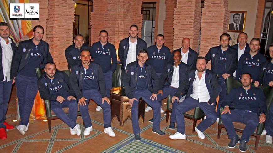 L'équipe de France, réunie à Marrakech pour la coupe du monde avec le Drômois Anthony Arnaud