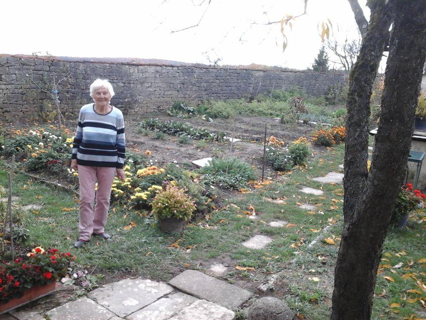 Marie-Léonie labre... côté jardin !