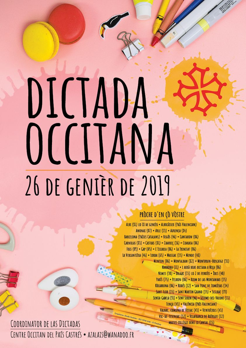 Affiche de la Dictada Occitana de 2019