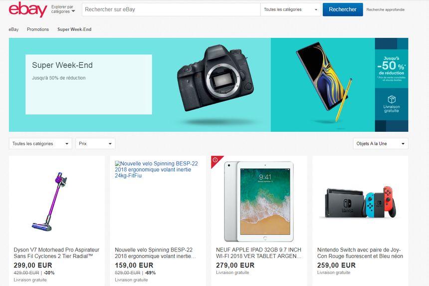 Le site eBay s'attend à enregistrer 800.000 nouvelles annonces d'ici le 26 décembre.