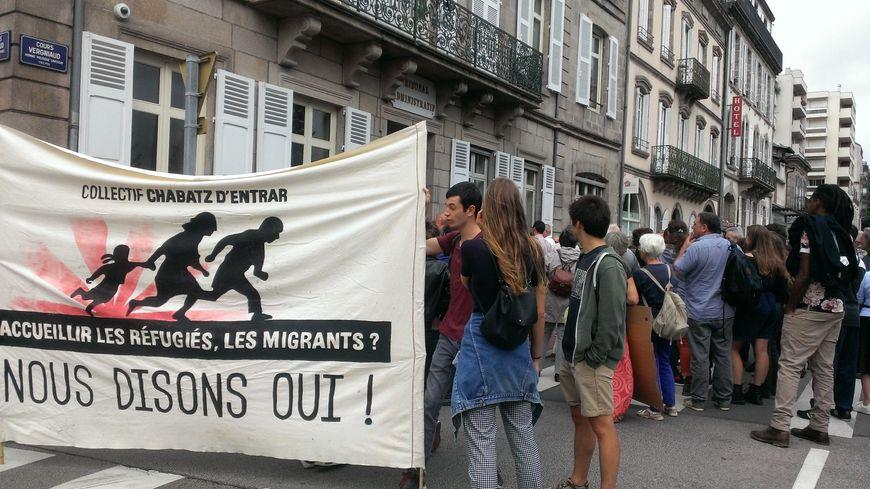 Lors d'une précédente manifestation en soutien aux migrants, en août 2018 devant la préfecture de la Haute-Vienne (archives)