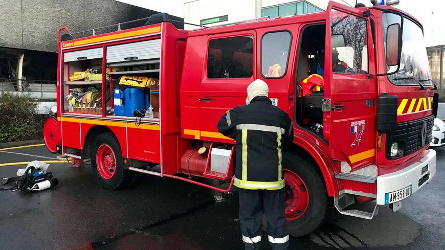 Camion pompiers incendie
