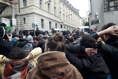 Manifestation des lycéens, Paris.