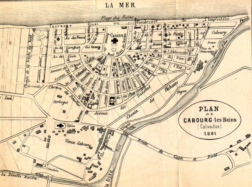Plan de Cabourg en 1861