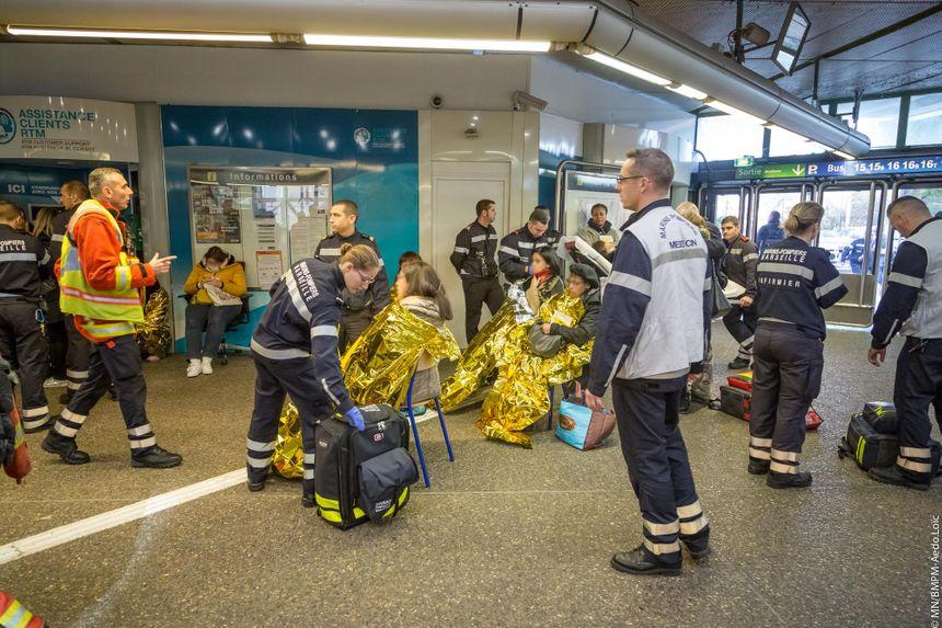 Les blessés légers pris en charge par les marins-pompiers de Marseille