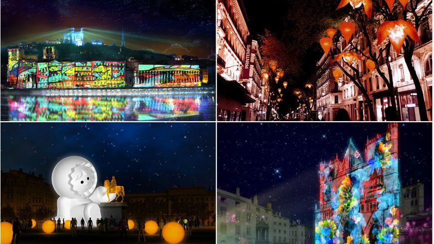 Quarante-et-unes installations sont proposées lors de l'édition 2018 de la Fête des lumières