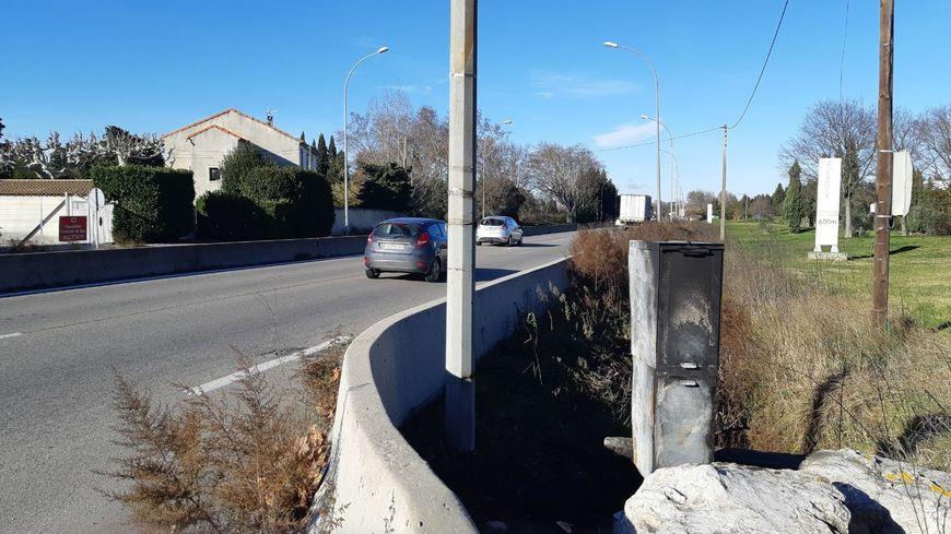 Radar vandalisé route de Marseille à Avignon