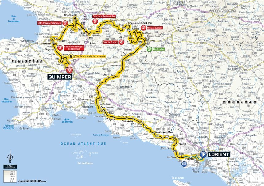 Le parcours de la 5e étape du Tour de France.